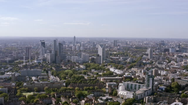 Districts of Central London aerial view within residential neighborhoods