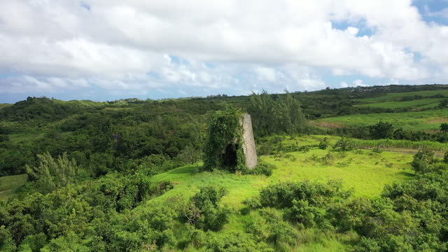 Disused windmill in rural Caribbean video