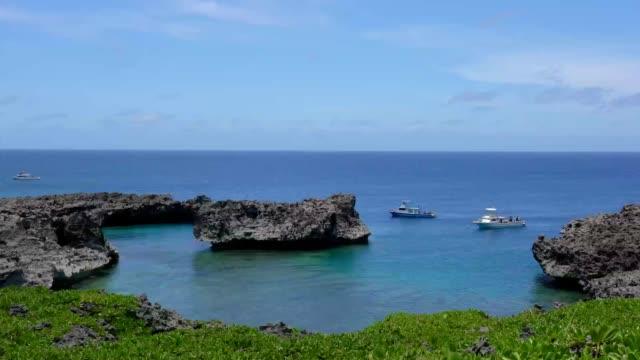 A dive spot at Cape Shiratori, Irabu island, Okinawa, Japan video