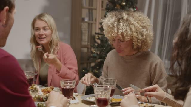 zróżnicowani ludzie świętują nowy rok - four seasons filmów i materiałów b-roll