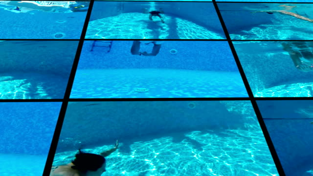 Diving in the private swimming pool video