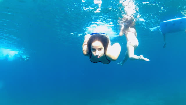 Diving in the sea video
