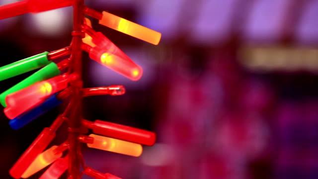 ディワリ祭/クリスマス装飾的なきらびやかなライト - ディワリ点の映像素材/bロール
