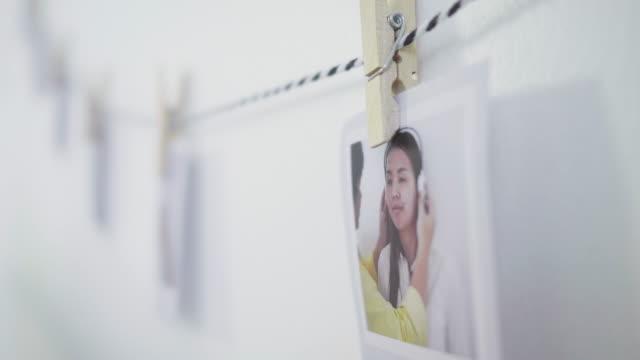 diy, dekorera hem med foto - fotoram bildbanksvideor och videomaterial från bakom kulisserna