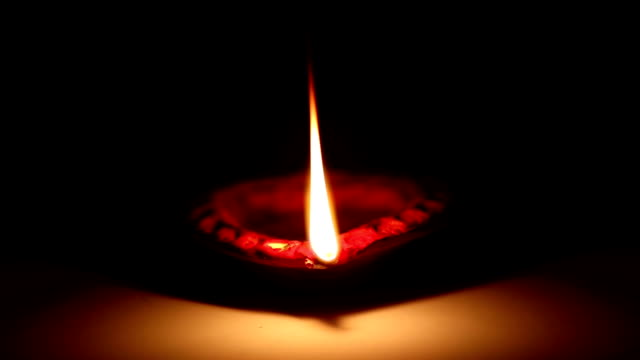 Diya (Oil Lamp) Close Up video