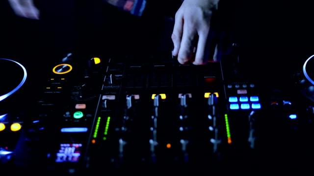Dj mixer.Close up video