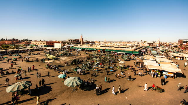 Djemaa el Fna Square in Marrakech Timelapse, Morocco video