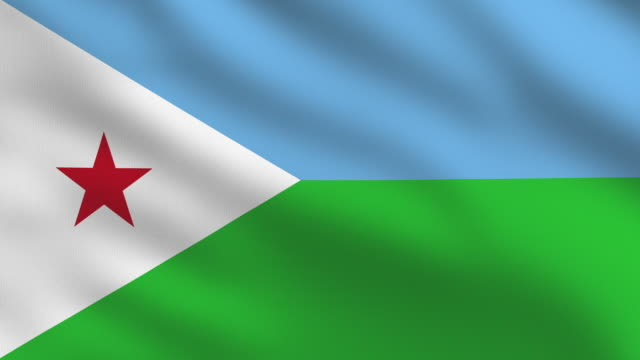 Djibouti Flag Flag of Djibouti. Full frame, loopable and realistic. High Definition 1920x1080 Format. horn of africa stock videos & royalty-free footage