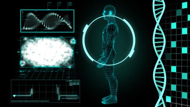 vídeos y material grabado en eventos de stock de estructura del adn de alta definición - investigación científica
