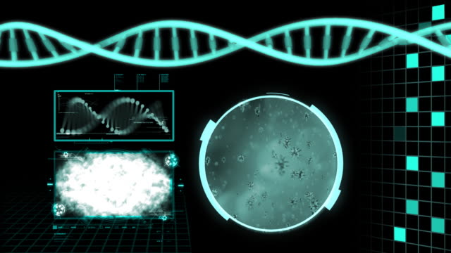 dna structure HD video
