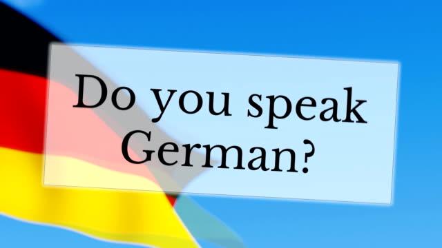 Do you speak German video