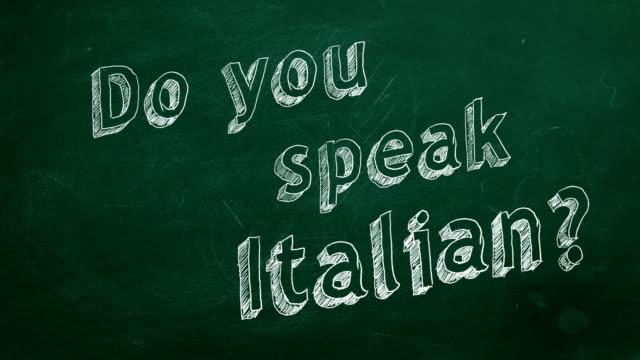 Você fala italiano? - vídeo