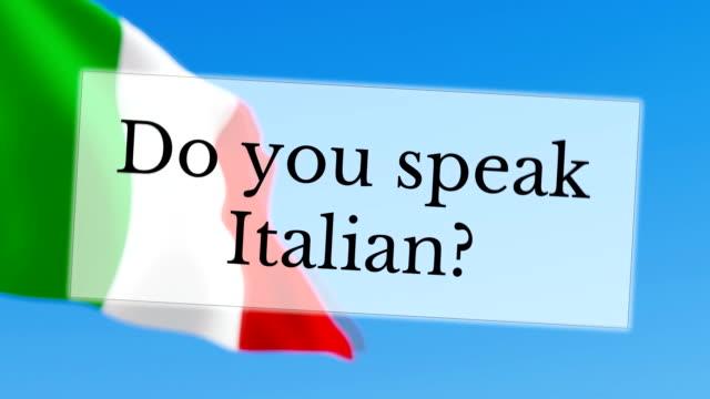 Do you speak Italian video