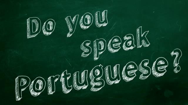 Você fala Português? - vídeo