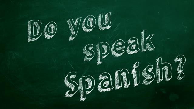Você fala espanhol? - vídeo