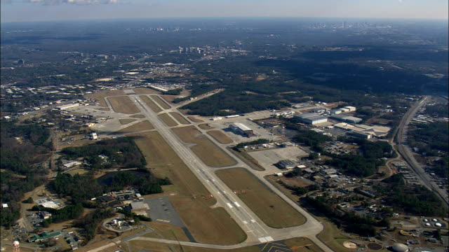 Dobbins Air force Base  - Aerial View - Georgia,  United States video