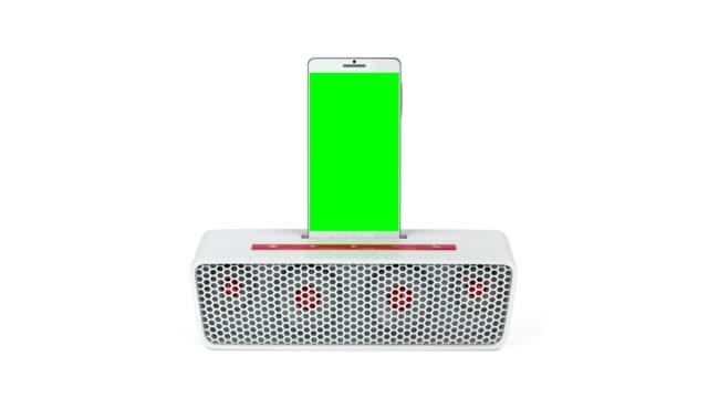 Docking station speaker and smartphone video