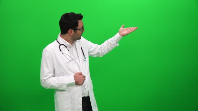 Doctor Giving Presentation Green Screen Background Doctor Giving Presentation Green Screen Background faq stock videos & royalty-free footage