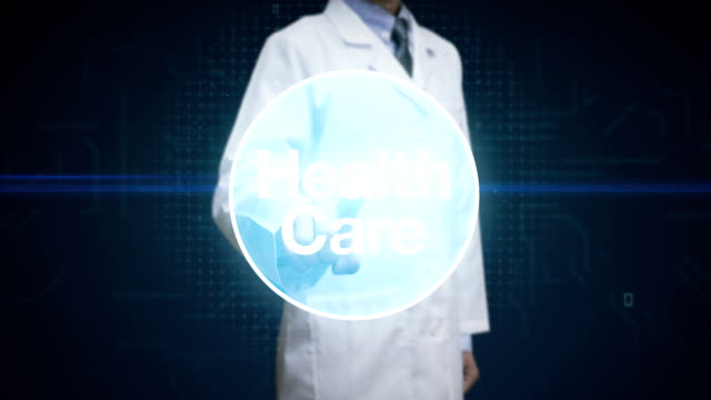 Doctor, Scientist touching screen, Various Health care technology icon connect global world map, dots makes world map. internet of things. Various Health care technology icon connect global world map, dots makes world map. internet of things. orthopedic equipment stock videos & royalty-free footage