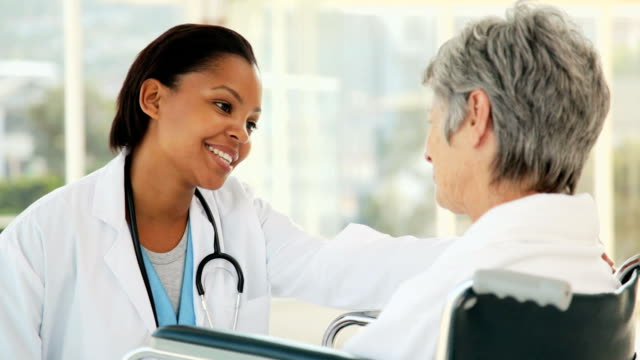 Doctor Talking with Her Patient video