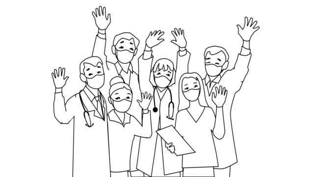 vídeos de stock, filmes e b-roll de médicos e equipe de enfermeiros - clip art