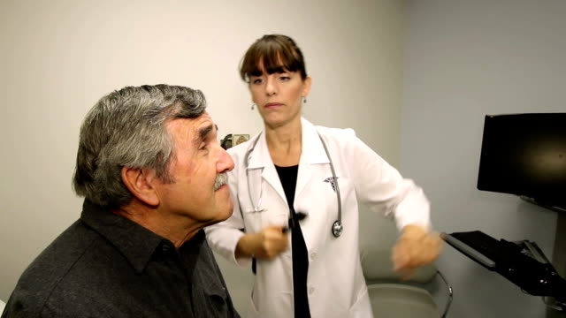 Doctor's Office Man's Eye Exam video
