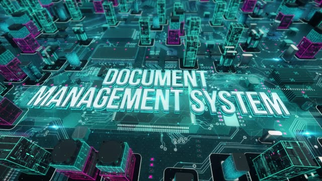 dokumentenmanagement-system mit digitaler technologie-konzept - flussdiagramm stock-videos und b-roll-filmmaterial