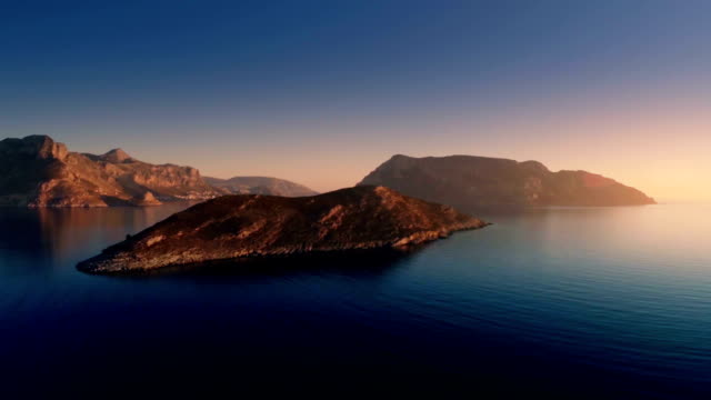 Dodecanese - Kalymnos 1 Aerial footage of islands and mountains in the sea, in the Aegean Sea, Mediterranean, Greece dow jones industrial average stock videos & royalty-free footage