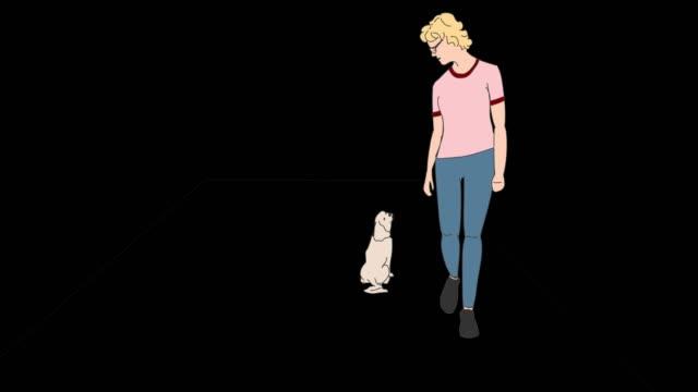 hund training färg med transparent bakgrund - animal doodle bildbanksvideor och videomaterial från bakom kulisserna