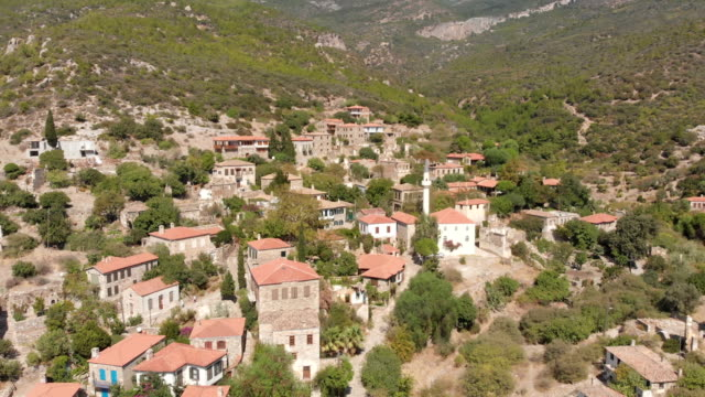 トルコの doganbey 村 - プリエネ点の映像素材/bロール
