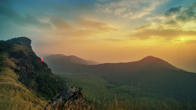 Doi mon jong moutain at sunset Time lapse,  Thailand video
