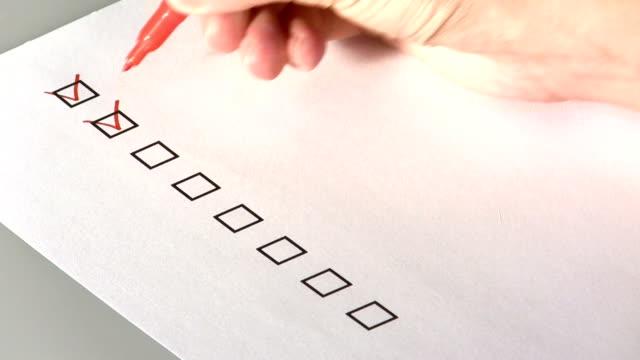 Doing checklist video