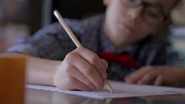 Doing homework video