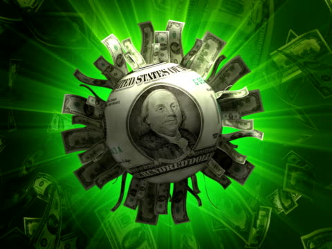 vídeos y material grabado en eventos de stock de dólar de sol #b partículas abstractos animación-ntsc - accesorio financiero