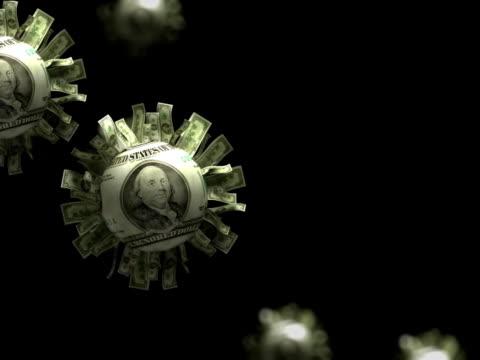 vídeos de stock e filmes b-roll de dólar partículas de sol abstrato animação-ntsc - acessório financeiro