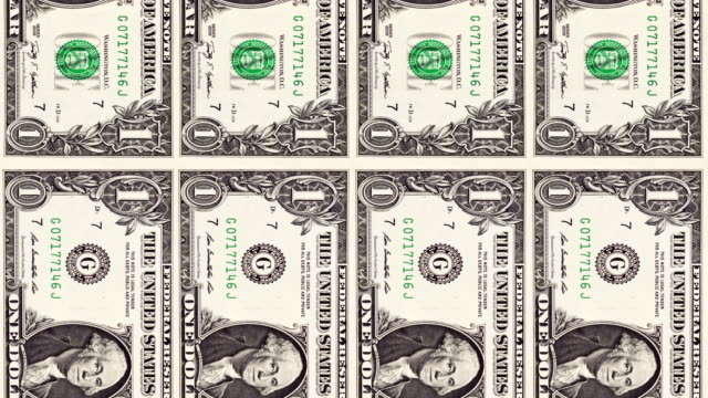 dollar animation dollar animation in loop. us paper currency stock videos & royalty-free footage