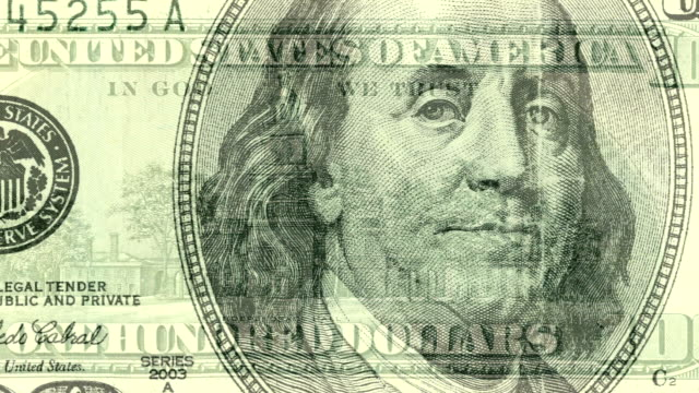 USA 100 dollar bill composite video