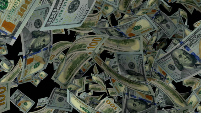 100 dollar bills burst