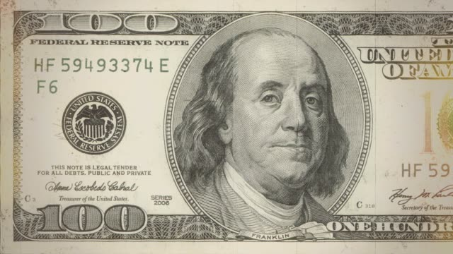 dollar bills counting old reel - dirty money bildbanksvideor och videomaterial från bakom kulisserna