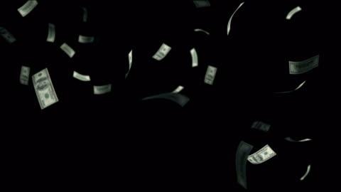 vídeos y material grabado en eventos de stock de billetes de un dólar cayendo a través del aire mate - caer