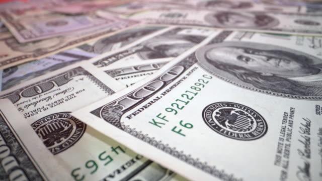 Dollar bills on the table