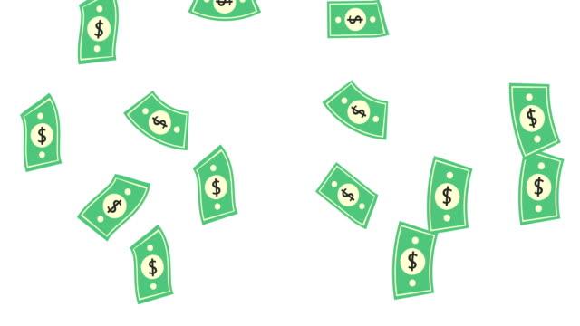 dollar bills regen effekte animation geld regen 4k business animation geld dollar regen dollar rechnungen fallen regen business studio effekte produktionshintergrund 4k - dollarsymbol stock-videos und b-roll-filmmaterial