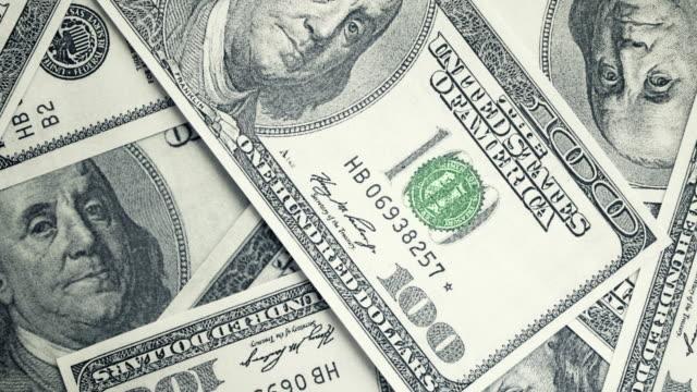 100 달러 지폐 스톱 모션 - 스톱 모션 스톡 비디오 및 b-롤 화면