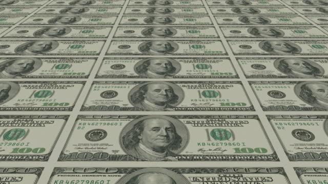 Dollar bills Money background - hundred american dollar bills. us paper currency stock videos & royalty-free footage