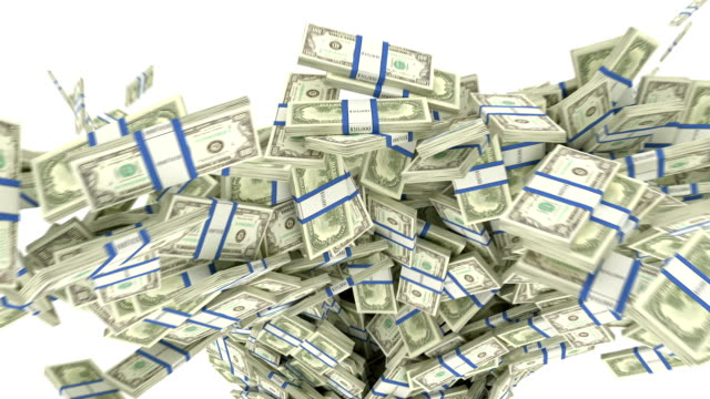 US dollar bundles flow with slow motion. alpha US dollar bundles flow with slow motion. alpha paper currency stock videos & royalty-free footage