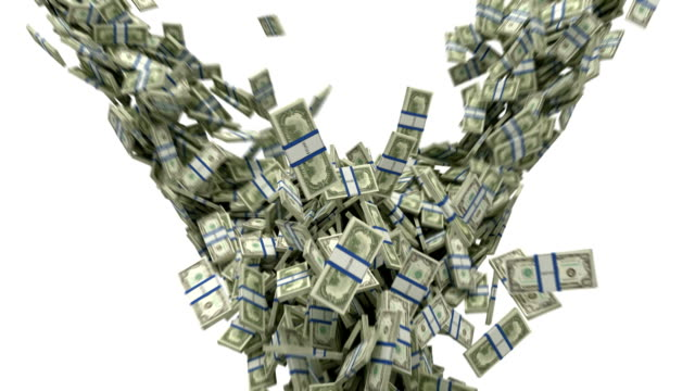 US dollar bundles flow with slow motion Y-shaped US dollar bundles flow with slow motion.  paper currency stock videos & royalty-free footage