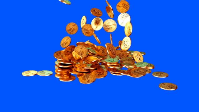 us 1 dollar münze - amerikanische geldmünze stock-videos und b-roll-filmmaterial
