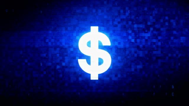 dollar valuta symbol digital pixel brus fel animation. - pound sterling isolated bildbanksvideor och videomaterial från bakom kulisserna