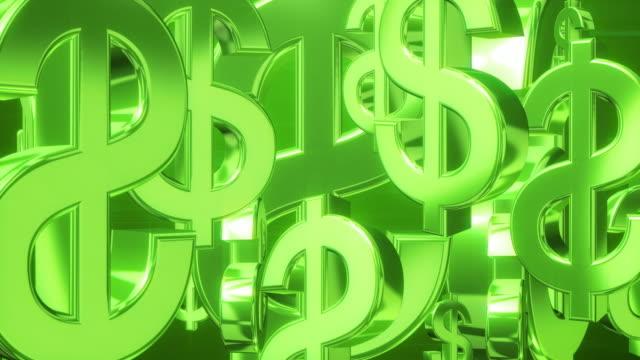 rotolo verde dollaro - bonus video stock e b–roll