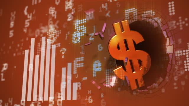 dollarsymbol aufstellen die stock market data - inflation stock-videos und b-roll-filmmaterial